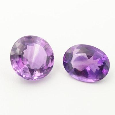 Loose 49.83 CTW Amethyst Gemstones
