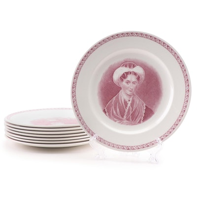 "Wedgwood ""Mount Holyoke College"" Ceramic Luncheon Plates"