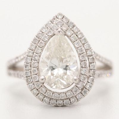 18K White Gold 2.88 CTW Diamond Ring