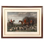 Hand-colored Etching after Thomas Slingsby of Hunt Scene