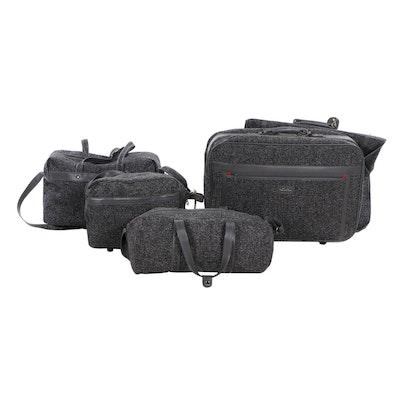 Oscar de la Renta Five-Piece Tweed Luggage Set