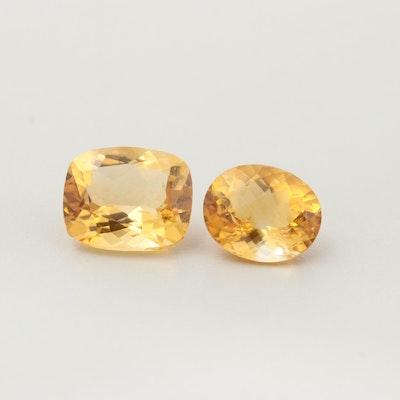 Loose 8.41 CTW Citrine Gemstones