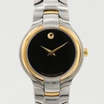 "Movado ""Museum Piece"" Stainless Steel Quartz Wristwatch"