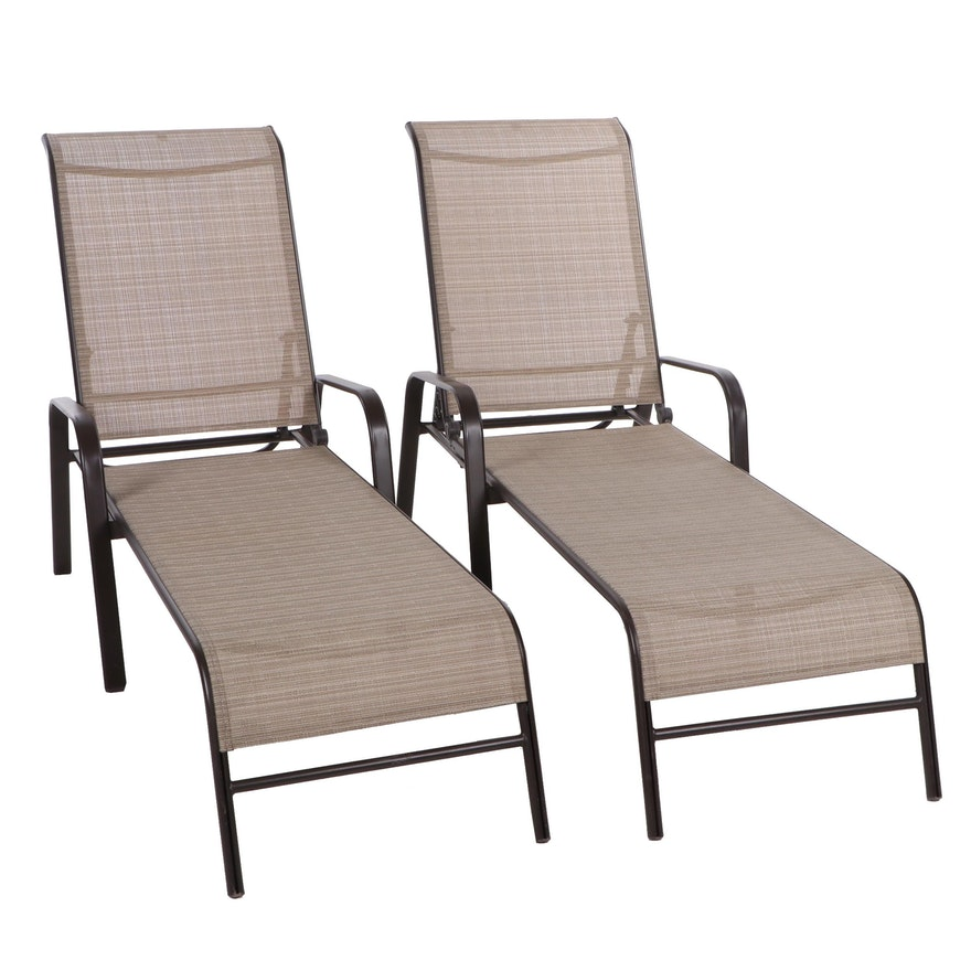 Hampton Bay Patio Chaise Lounges, Contemporary