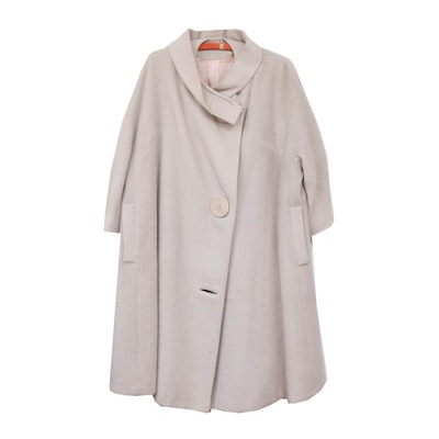 Paris La Mode Beige Wool Swing Coat, Mid-20th Century