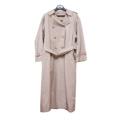 Women's Burberrys Double-Breasted Trench Coat with Removable Wool Lining