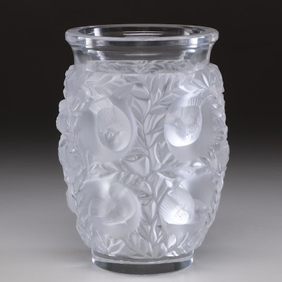 "Lalique ""Bagatelle"" Crystal Vase"