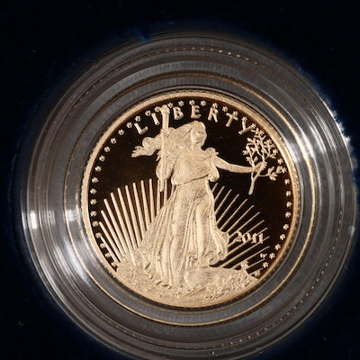 2011-W Five Dollar Proof Gold Eagle 1/10 oz Bullion Coin
