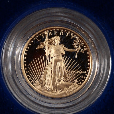 1991-P Five Dollar Proof Gold Eagle 1/10 OZ. Bullion Coin