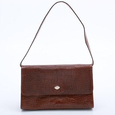 I Santi Embossed Leather Handbag