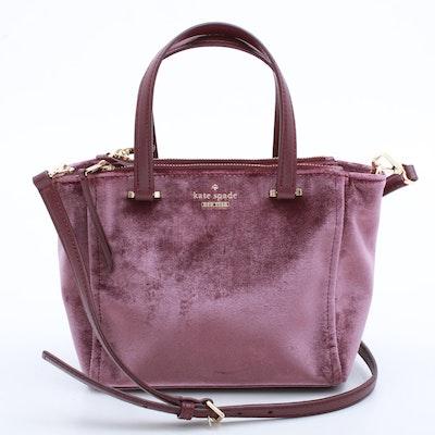 Kate Spade New York Aubergine Velour Convertible Handbag