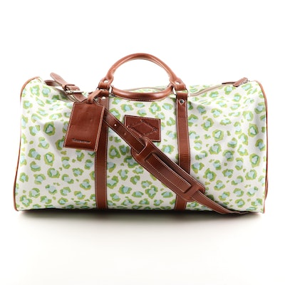 Barrington Belmont Cabin Bag in Printed Canvas and Tan Milan Leather
