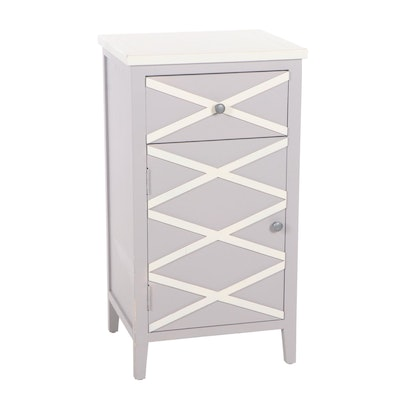 Contemporary Painted Wood Bedside Cabinet