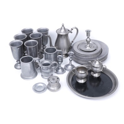 Pewter Tableware Featuring H B Rogers and MMA