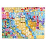 Michelle Rivera Color Block Oil Painting