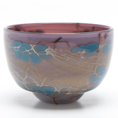 Art Glass Bowl Signed by the Artist, 1988
