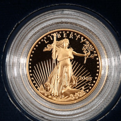 2005-W Five Dollar Proof Gold Eagle 1/10 oz. Bullion Coin