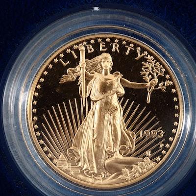 1993-P Twenty-five Dollar Gold American Eagle Proof Coin