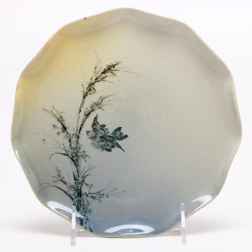 Rookwood Pottery Albert R. Valentien Plate, Late 19th Century
