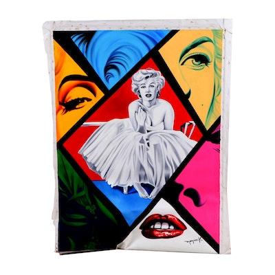 Hector Monroy Marilyn Monroe Oil Painting