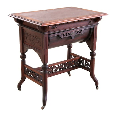 Victorian Aesthetic-Movement Walnut Table, Late 19th Century