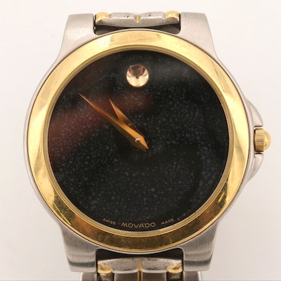 Movado Museum Face Two-Tone Quartz Wristwatch