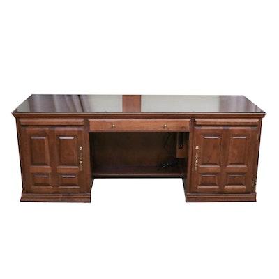 Mahogany Kneehole Desk, Mid to Late 20th Century