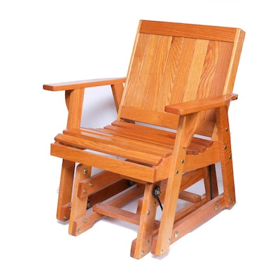 Oak Rocker with Glider Base, Late 20th Century