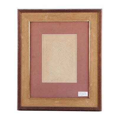 """Etching after Pablo Picasso """"Deucalion et Pyrrha"""""""