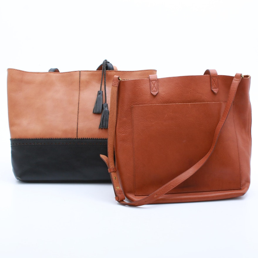 new arrival complete in specifications strong packing Patricia Nash and Madewell Leather Tote Bags