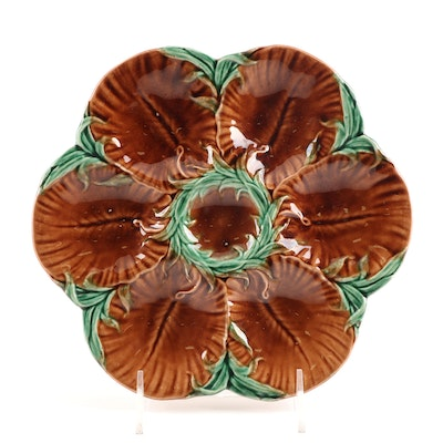 Majolica Oyster Plate, 19th Century