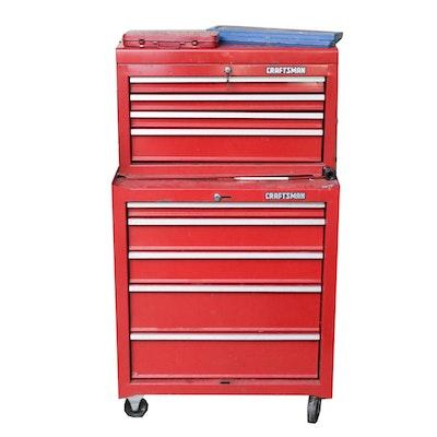 Craftsman Tool Box, Various Tools, Work Bench and Sawhorses