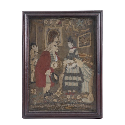 Frances Allen 1772 Needlework Picture Embroidery