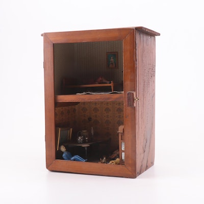 Cupboard Dollhouse with Accessories