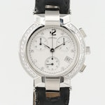 Concord La Scala Stainless Steel 1.00 CTW Diamond Chronograph Wristwatch