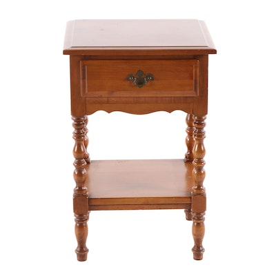 Federal Style Maple Two-Tier Side Table, Second Half 20th Century