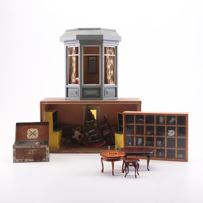 Dollhouse Dioramas and Miniature Accessories