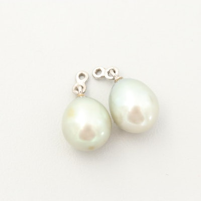 Sterling Silver Cultured Pearl Earring Jackets