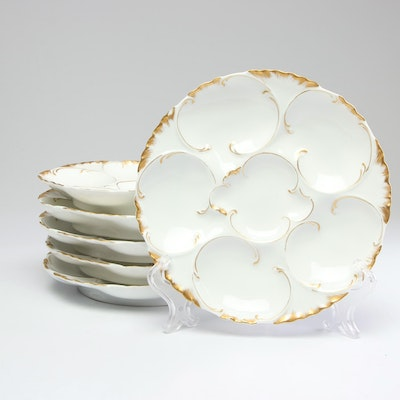 "Haviland ""Ranson"" Porcelain Oyster Plates, Late 19th/Early 20th Century"