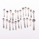 Sterling Silver and Silver Plate Salt Cellar Spoon Assortment