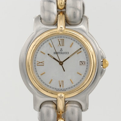 Bertolucci Pulchra 18K Gold And  Stainless Steel Quartz Wristwatch