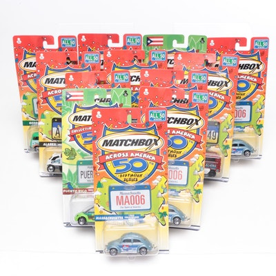 Mattel Inc. Matchbox Across America 50th Birthday Series Cars, Contemporary