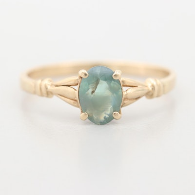 14K Yellow Gold Chrysoberyl Ring