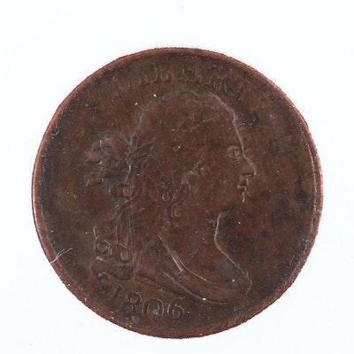 1806 Draped Bust Half Cent