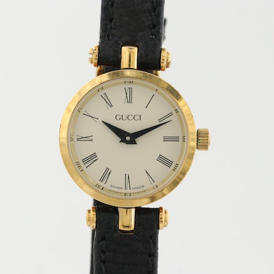 Vintage Gucci 200L Gold Tone Quartz Wristwatch
