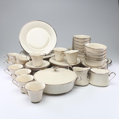 "Lenox ""Moonspun"" Porcelain Dinnerware, Late 20th Century"