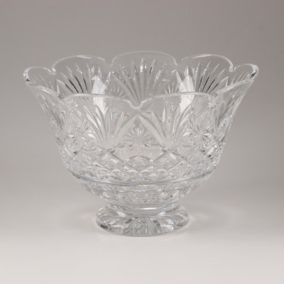 Waterford Crystal Artist Signed Centerpiece Bowl, Circa 1997