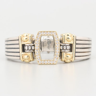 Lagos Caviar 18K Yellow Gold Accented Sterling Silver 1.23 CTW Diamond Bracelet