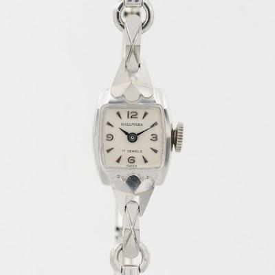 Hallmark 14K White Gold Swiss Stem Wind Wristwatch