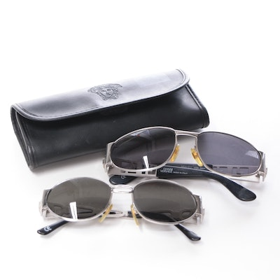 Gianni Versace S37 and S34 Sunglasses with Leather Case